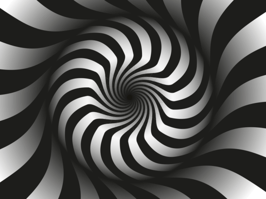 Black and white swirl for hypnosis