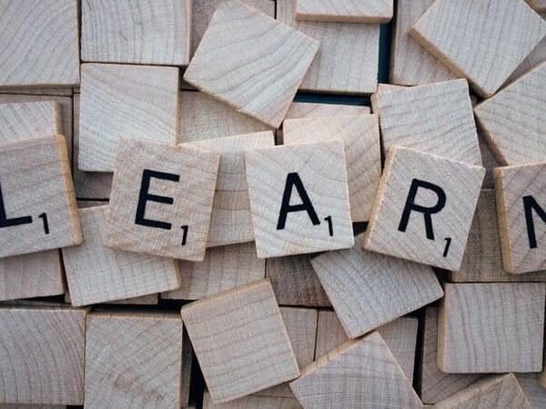 Scrabble letters learn