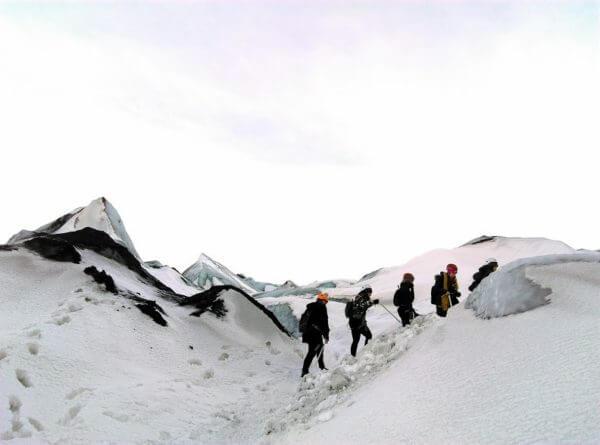 Hiking the Glacier