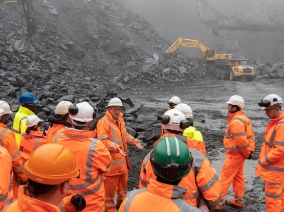Group of people on a quarry tour