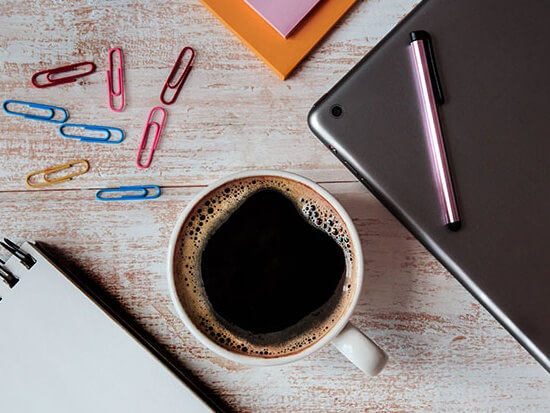 Coffee, paper clips