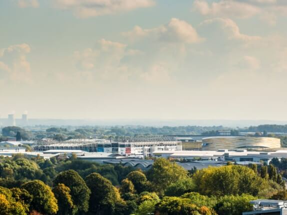 Derby skyline overlooking the city