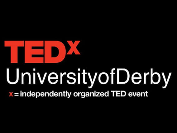 Ted talk banner - university of derby