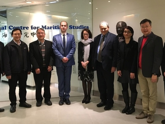 Professor Keith McLay and Professor Judith Lamie with colleagues from the University of Derby and members of the British Council in Hong Kong