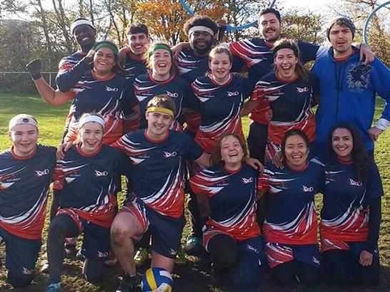The University of Derby quidditch team