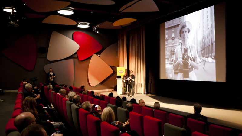 Format conference being held at the Quad in one of their cinema theatres.