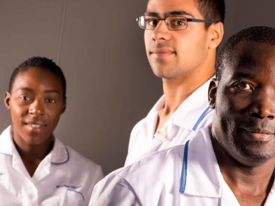 Student nurses posing