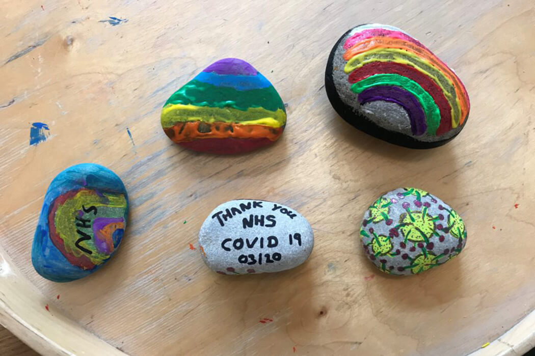 Hand-painted rocks