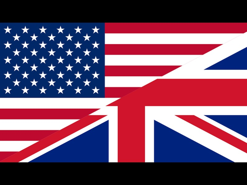 The Union Flag and The Stars And Stripes flags.