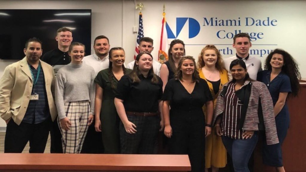 University of Derby students in the Miami Dade College