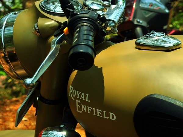 An Indian made Royal Enfield motorcycle