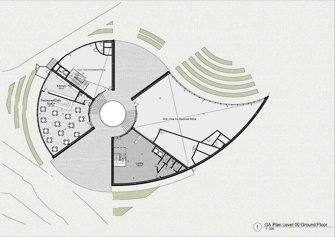 Culinary School third floor plan diagram