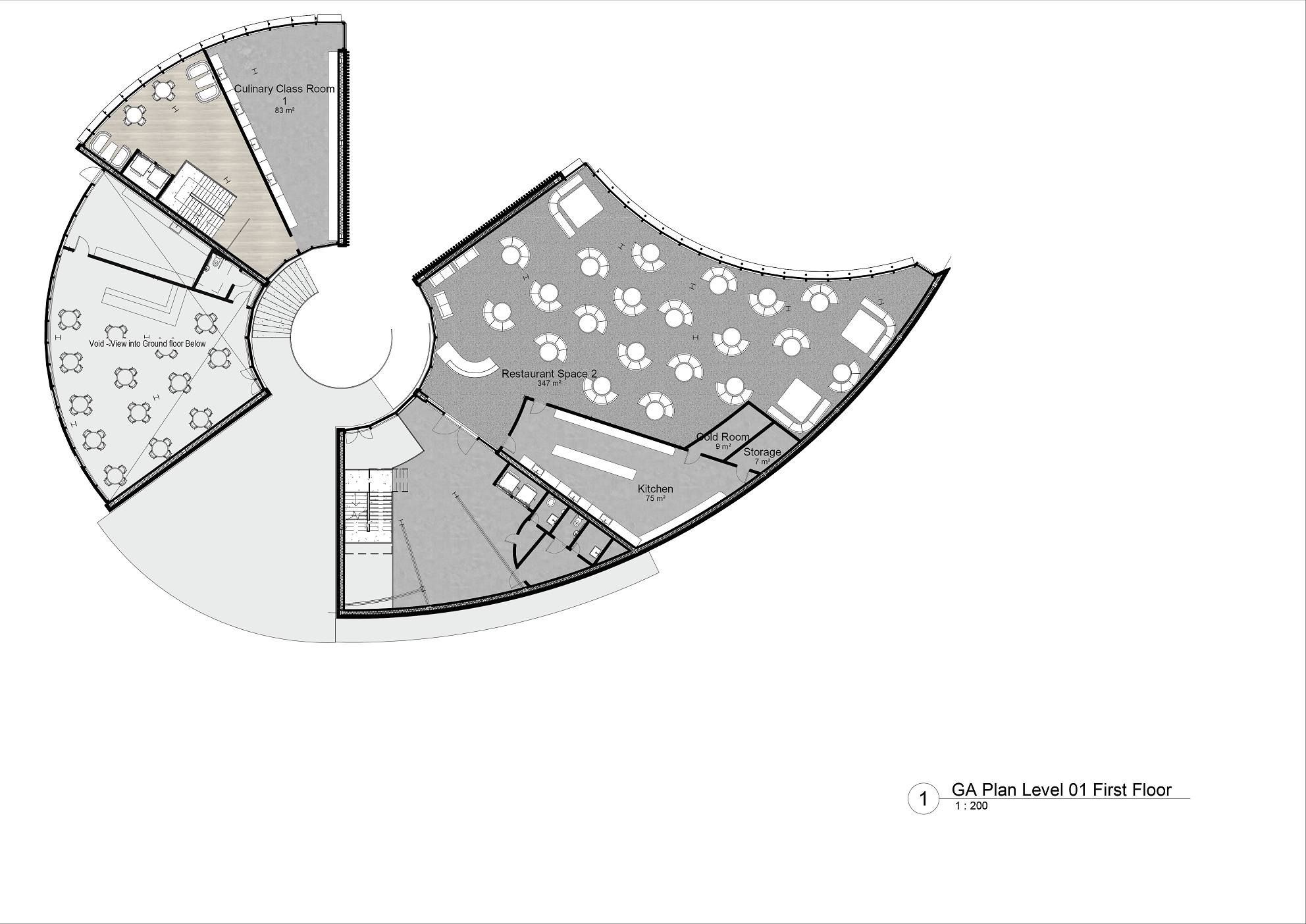 Culinary School first floor plan diagram