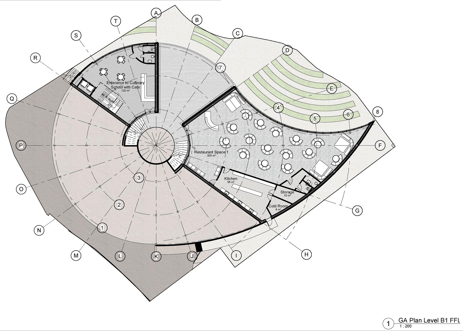Culinary School basement plan diagram
