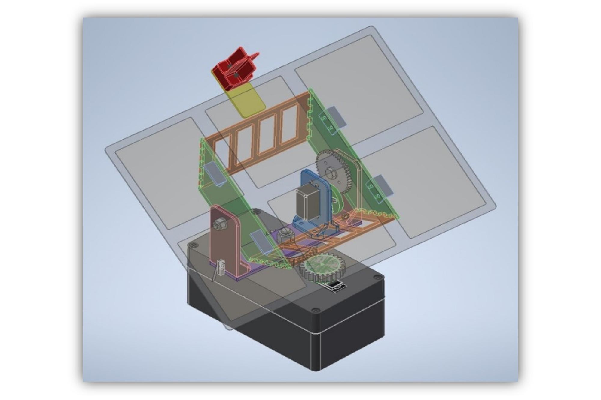 3D model of sun tracker assembly