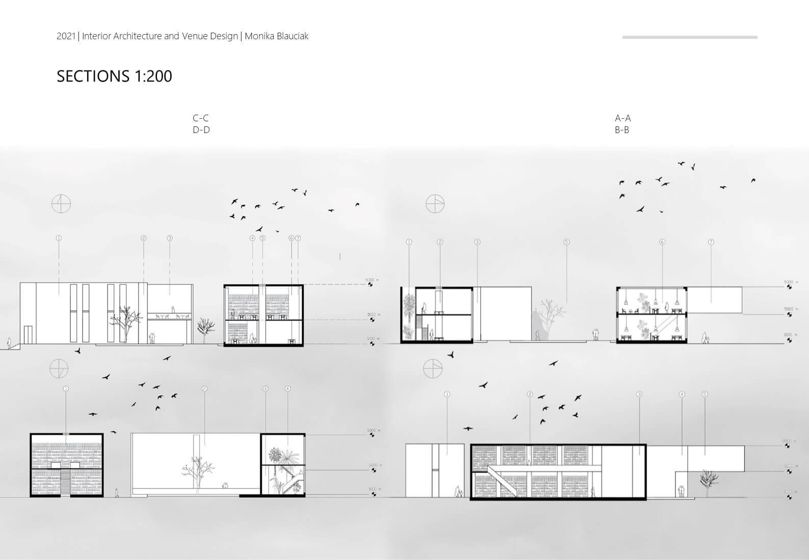 Sadler Square Section Plan