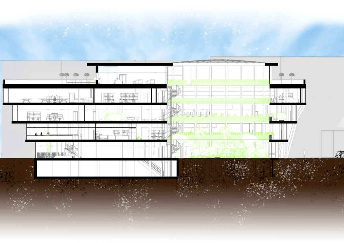 Botanic Garden and Research Centre Elevations