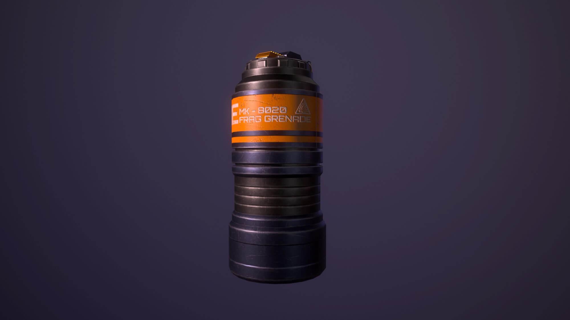 a cylindrical frag grenade
