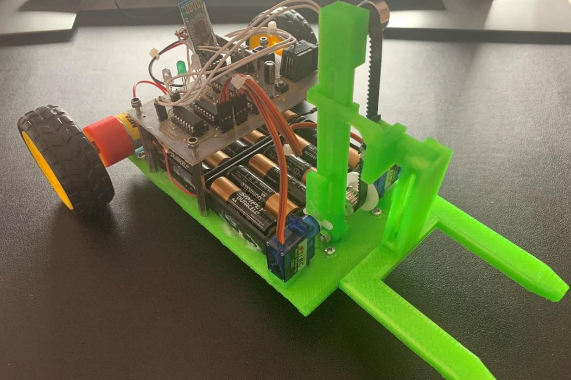Hand Controlled Forklift Robot