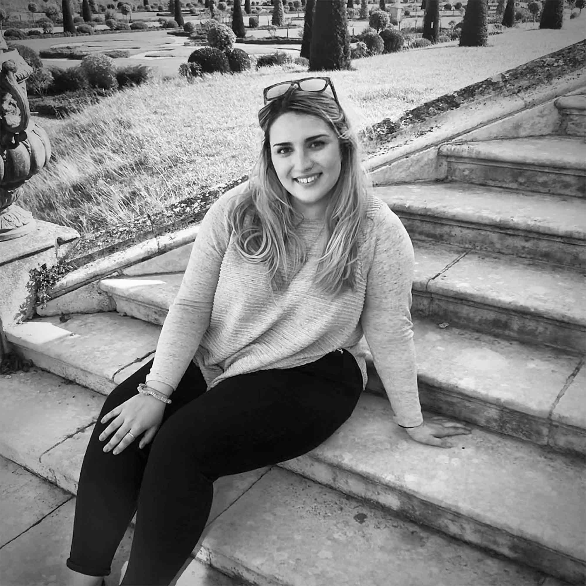 Student Francesca Moroz smiling