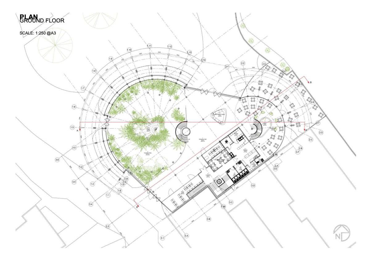 Botanic Garden and Research Centre Ground Floor Plan