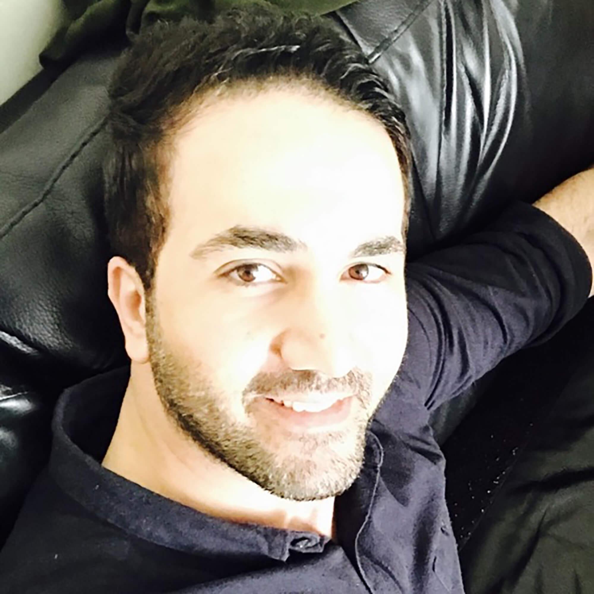 Salah Kassem smiling for selfie