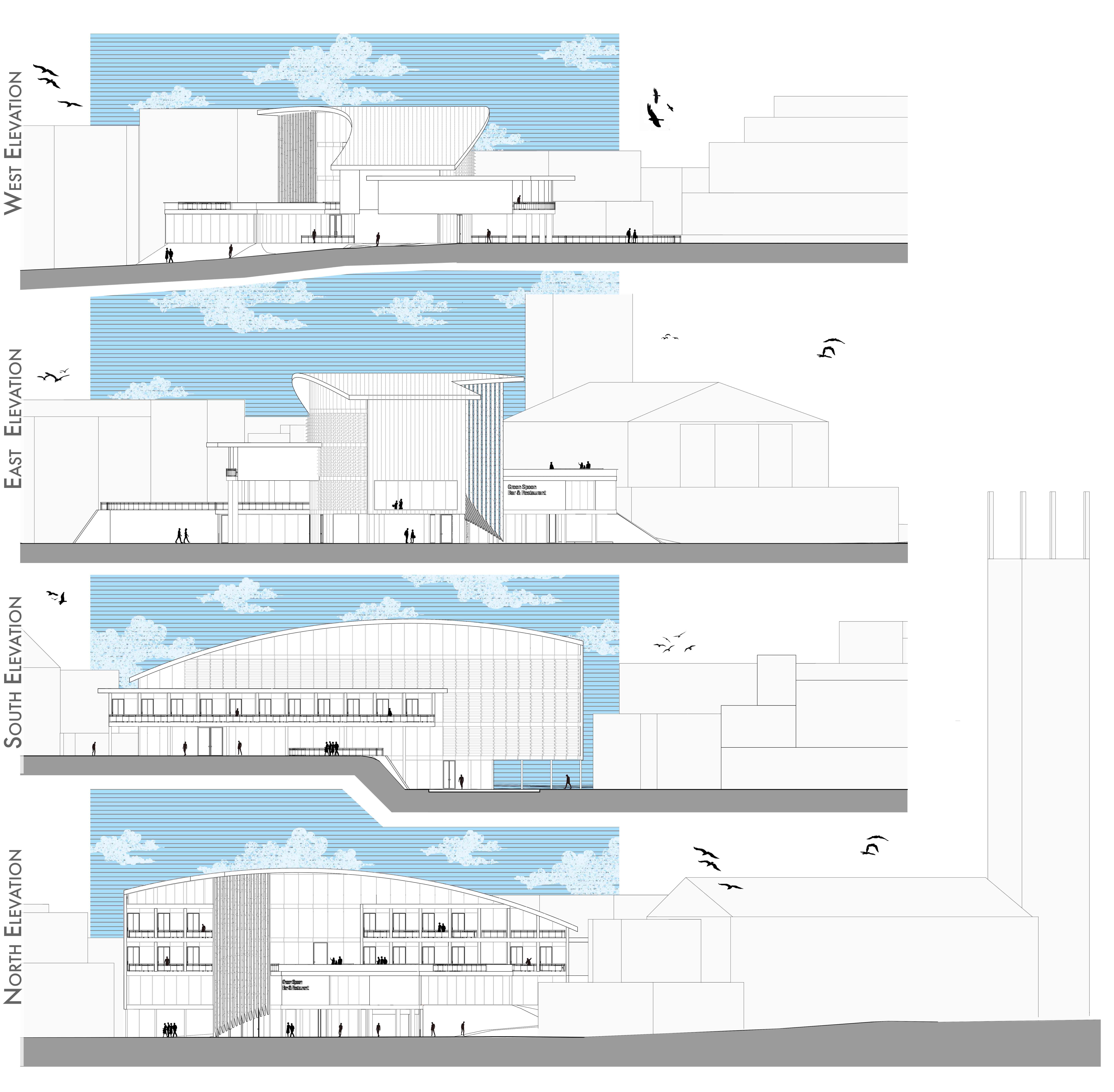 Samuel Taylor Buddliea Hotel Elevations Plan