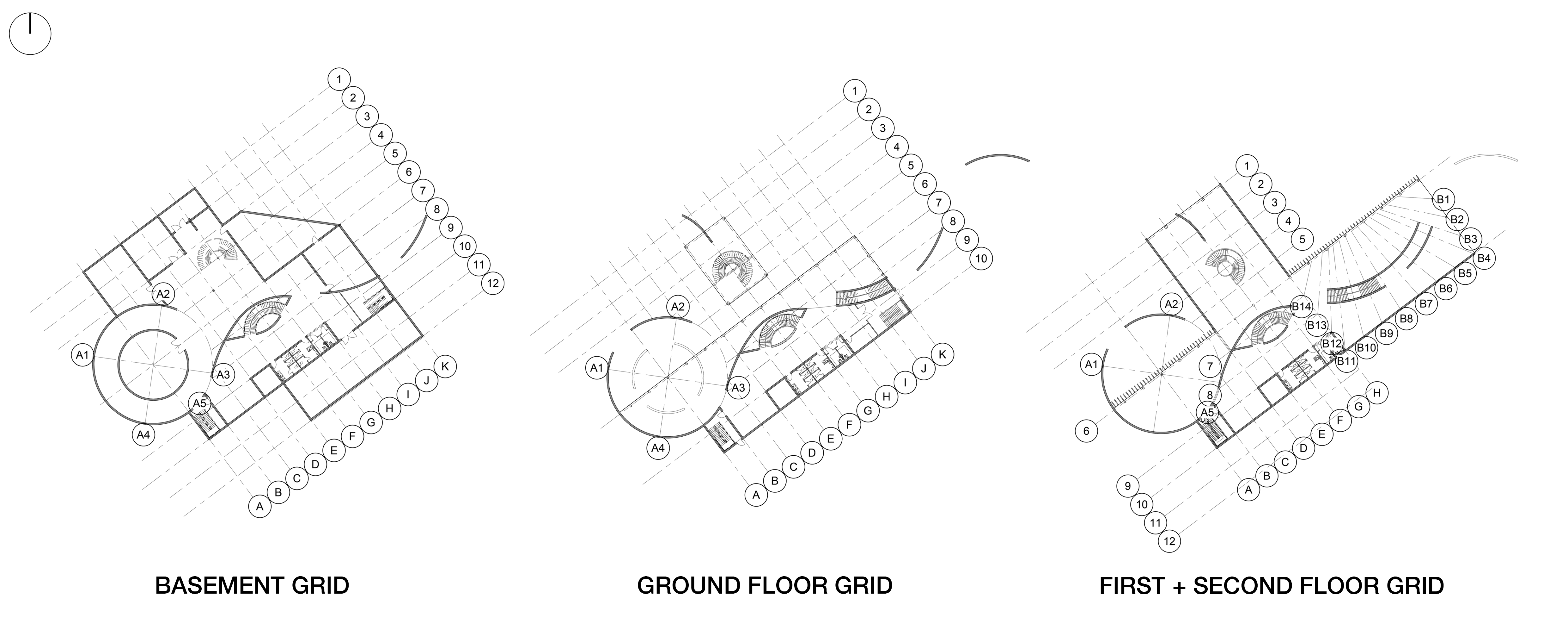 Wright Gallery + Studios Structural Grids