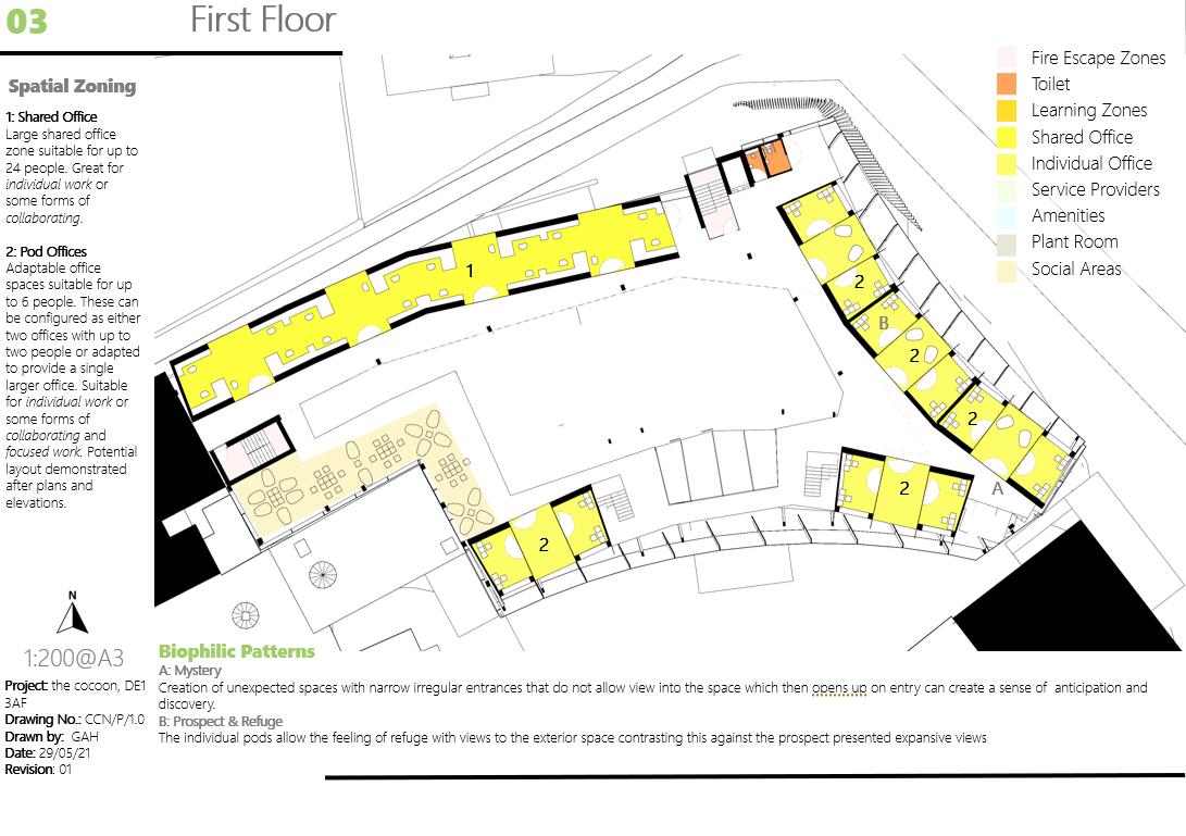 The Cocoon First Floor Floorplan