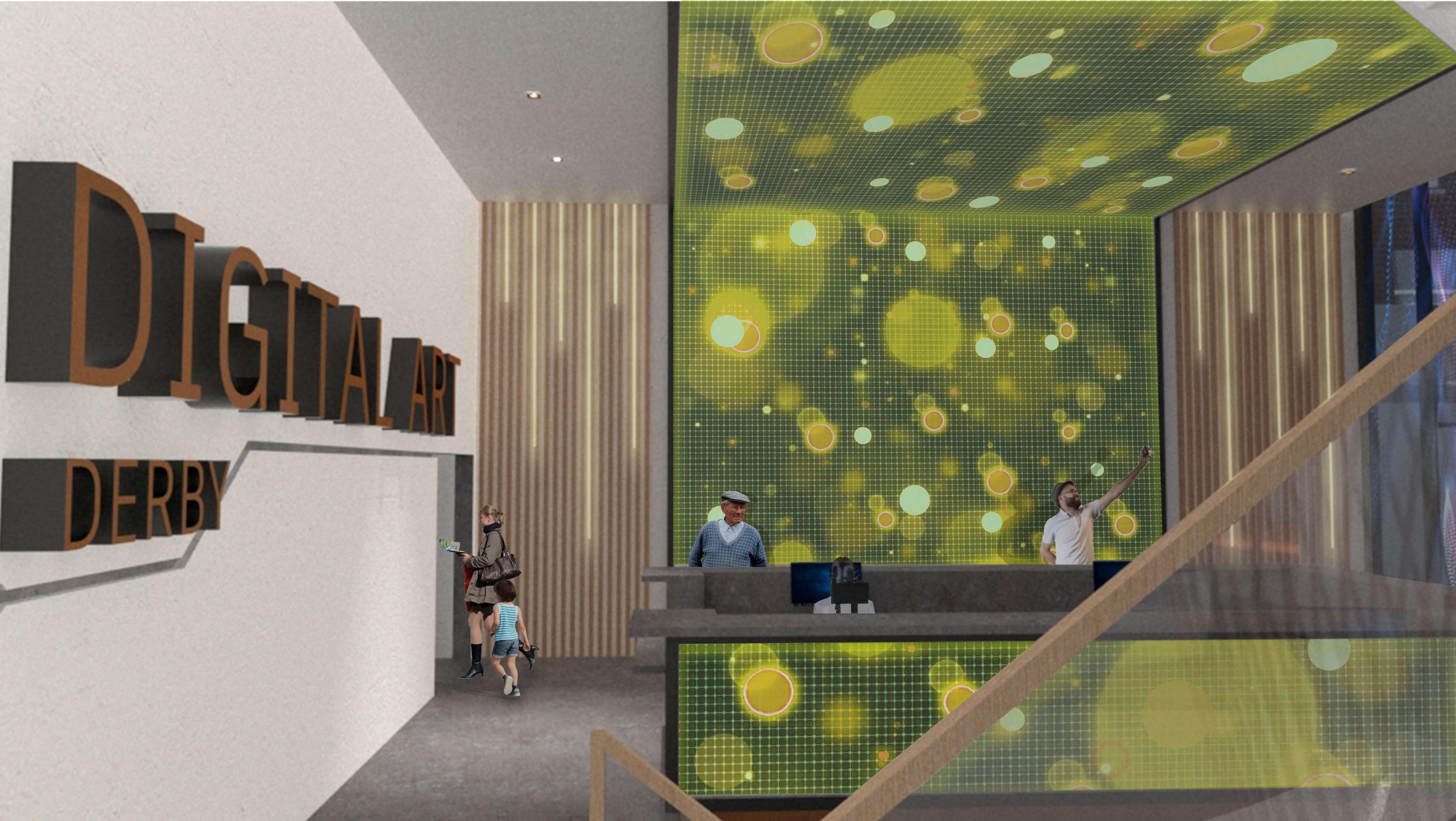 Digital Art Derby Interior Reception Plan
