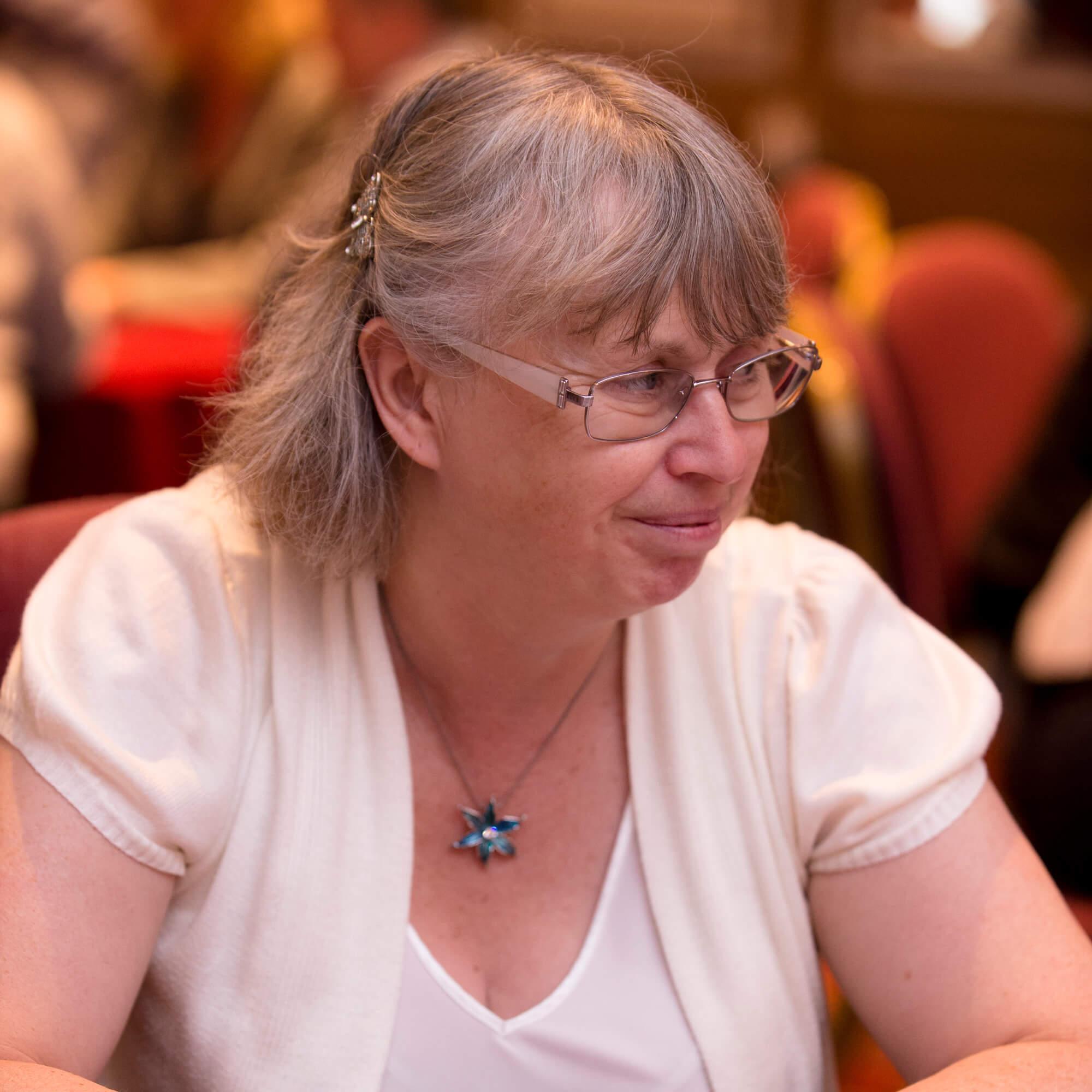 Senior lecturer Juliet Hogsden attending a conference