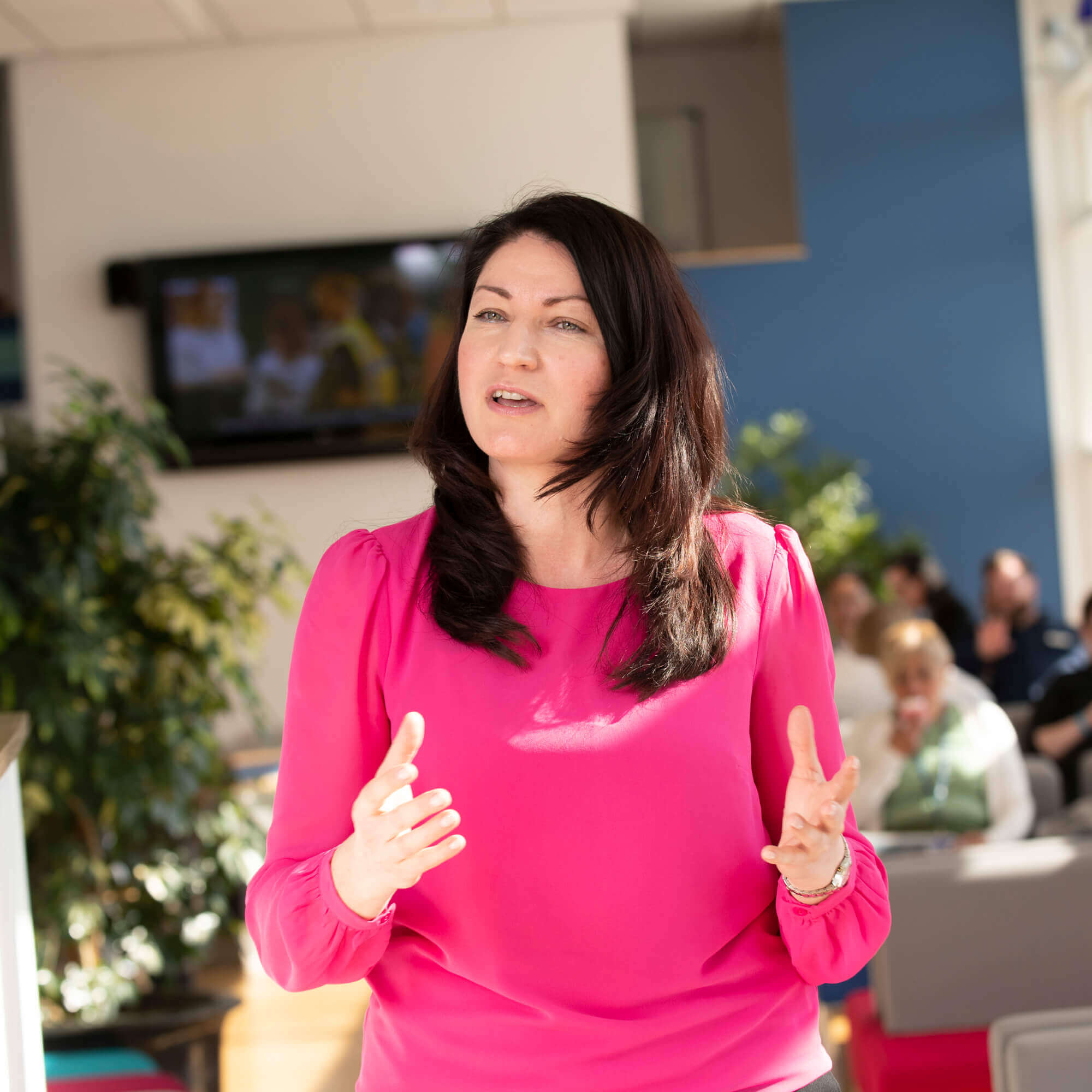 Polina Baranova talking