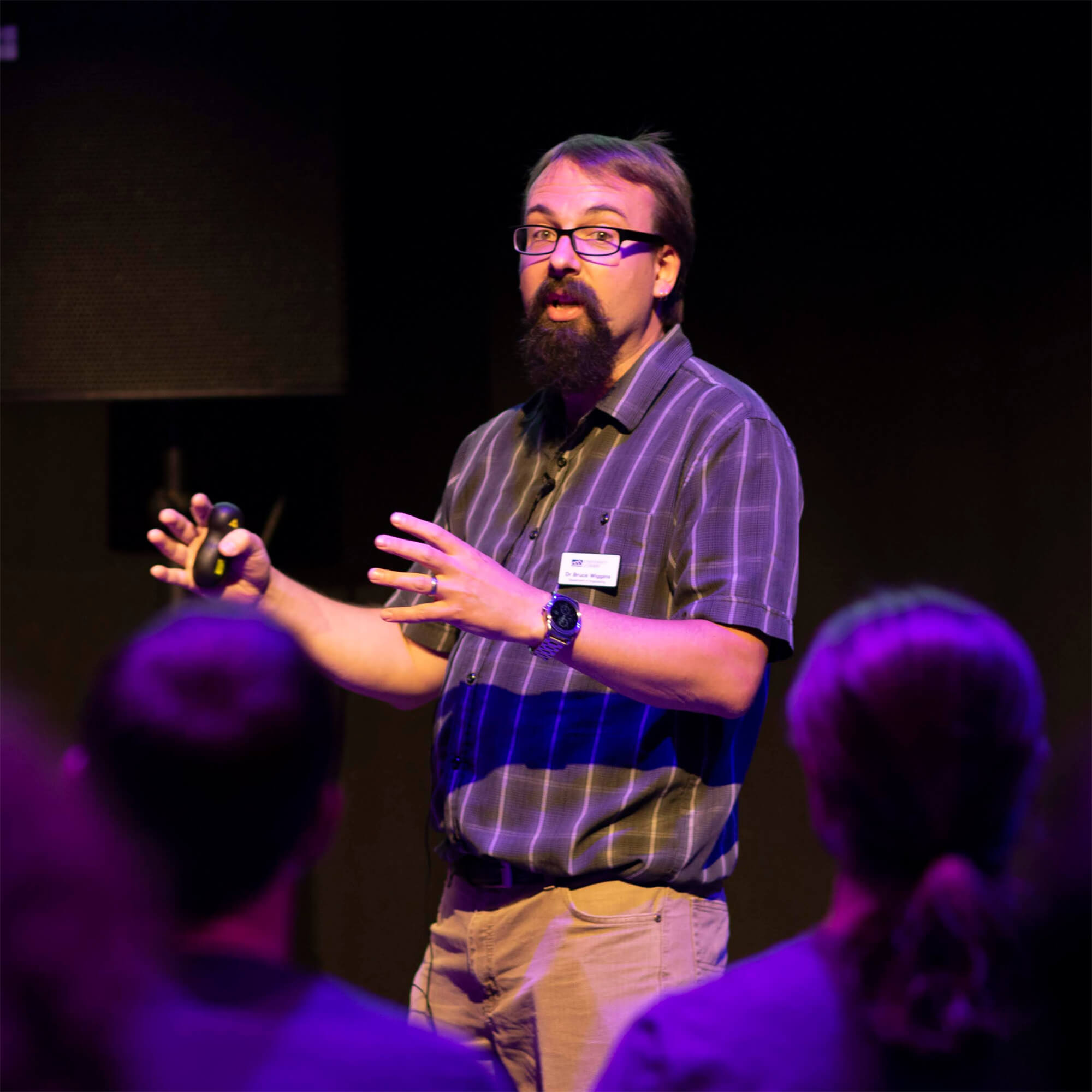 Dr Bruce Wiggins presenting at Sounds in Space, 2018