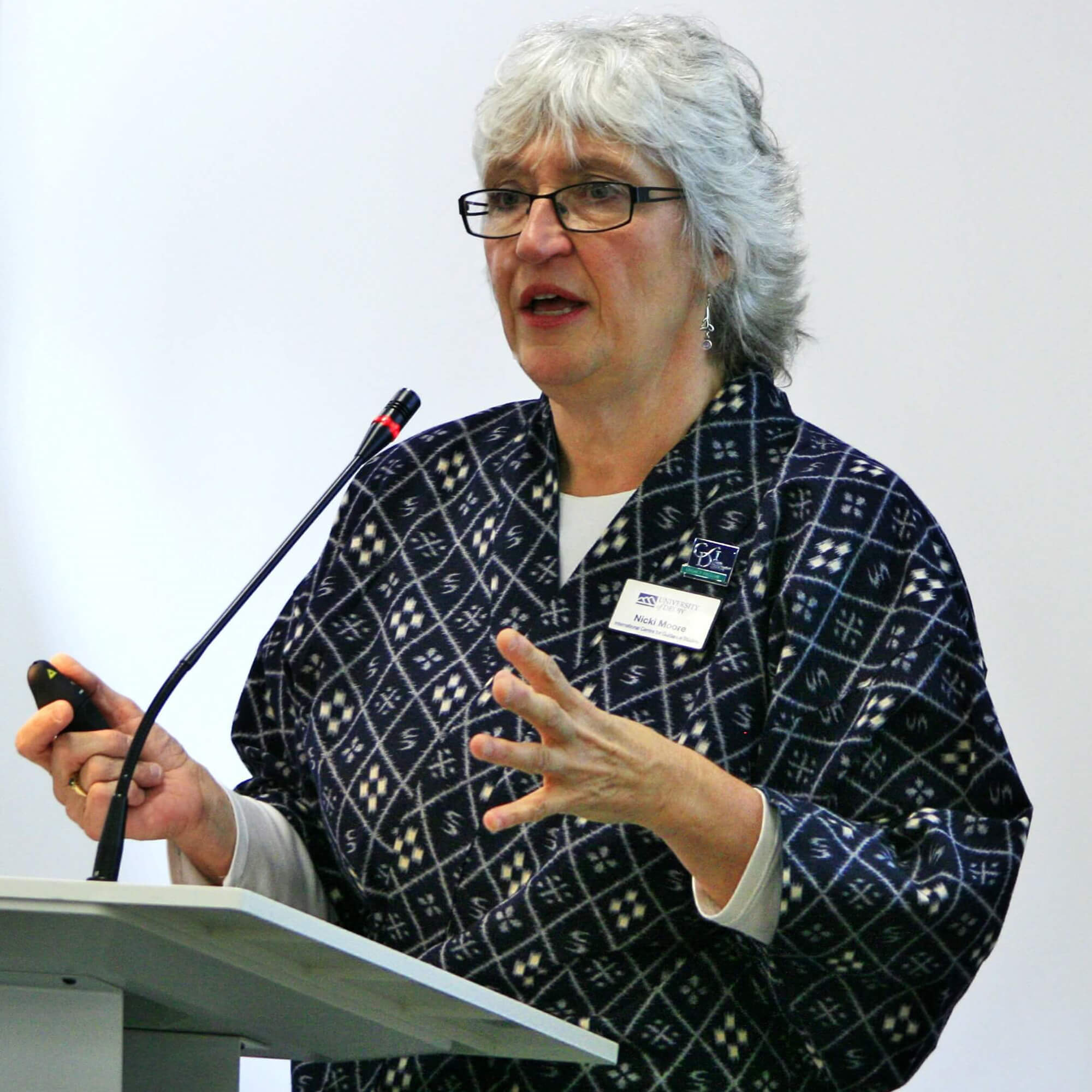 Nicki Moore providing a keynote at the National Careers Education and Learning Conference, Derby, 2018