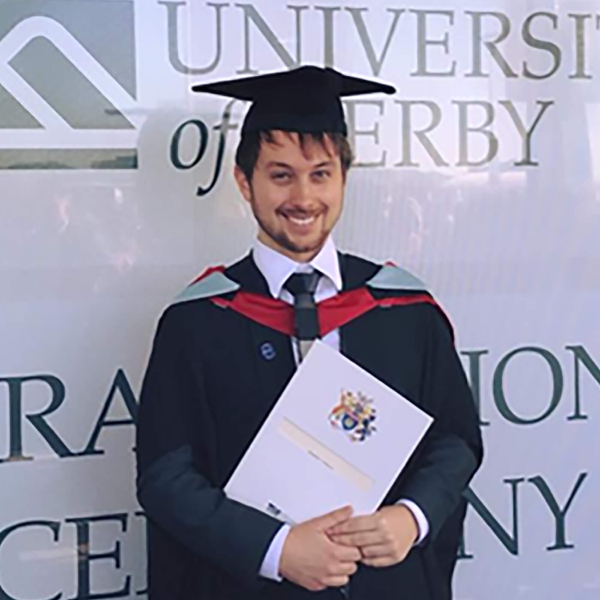 Robert at his graduation ceremony