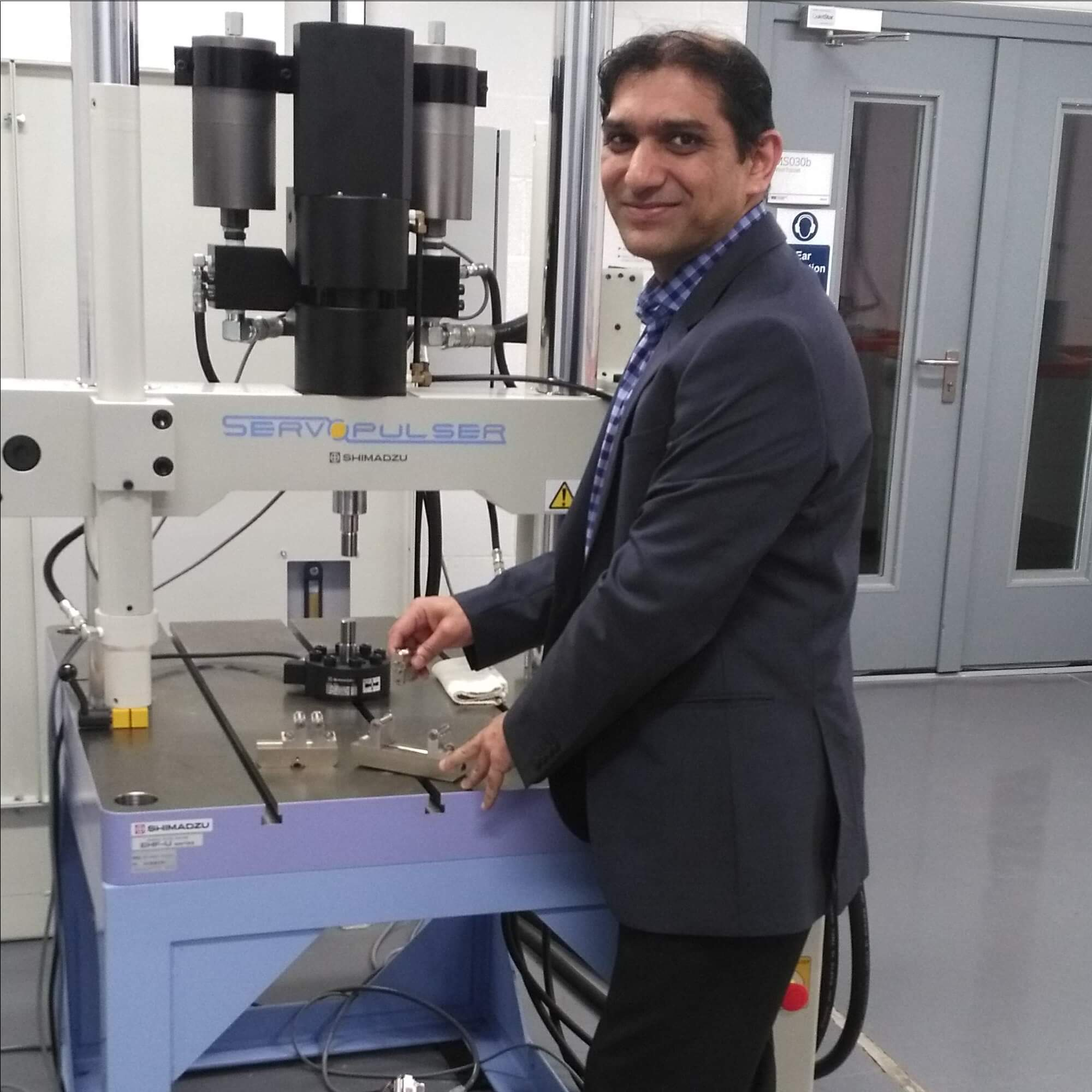 Rizwan Choudhry in the Fatigue Lab
