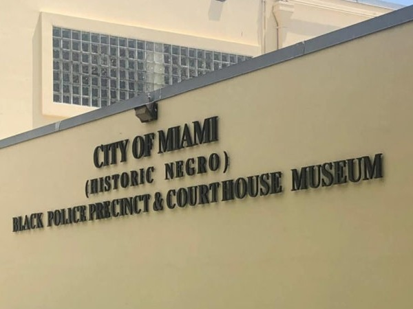 Sign on the wall of the City of Miami Black Police Precinct and Courthouse Museum