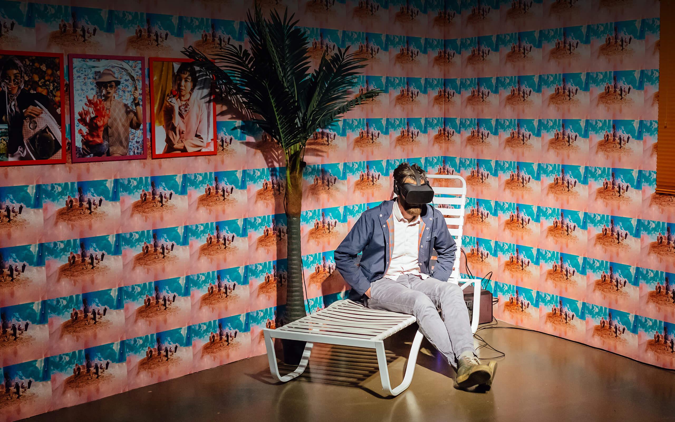 an art installation using virtual reality